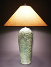 Green Handmade Ceramic Pottery Lamp