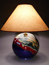 Blue Handmade Ceramic Pottery Lamp